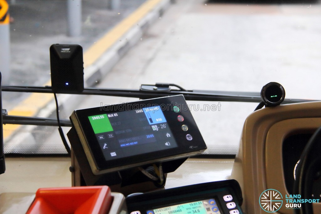 Trapeze CFMS and Mobileye 560 installed on a Scania K230UB