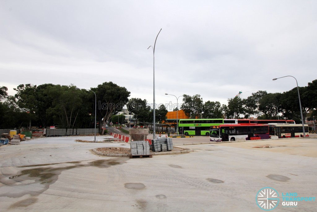 Upper East Coast Bus Terminal - New extension with parking lots yet to be drawn