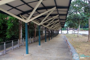 Upper East Coast Bus Terminal in September 2015 - Sheltered walkway from Upp East Coast Rd