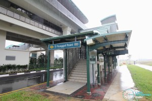 Punggol Point LRT Station - Exit A along Punggol Way