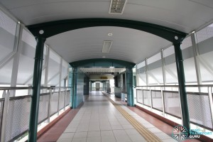 Punggol Point LRT Station - Linkbridge across Punggol Way