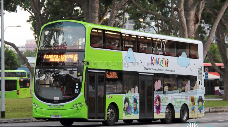 Go-Ahead Volvo B9TL Wright (SBS1Z) - Service 6, with advertising wrap for Knackstop