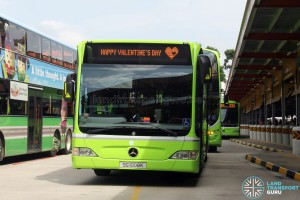 Tower Transit Mercedes-Benz Citaro (SG1008K) with Valentine's Day EDS scroll