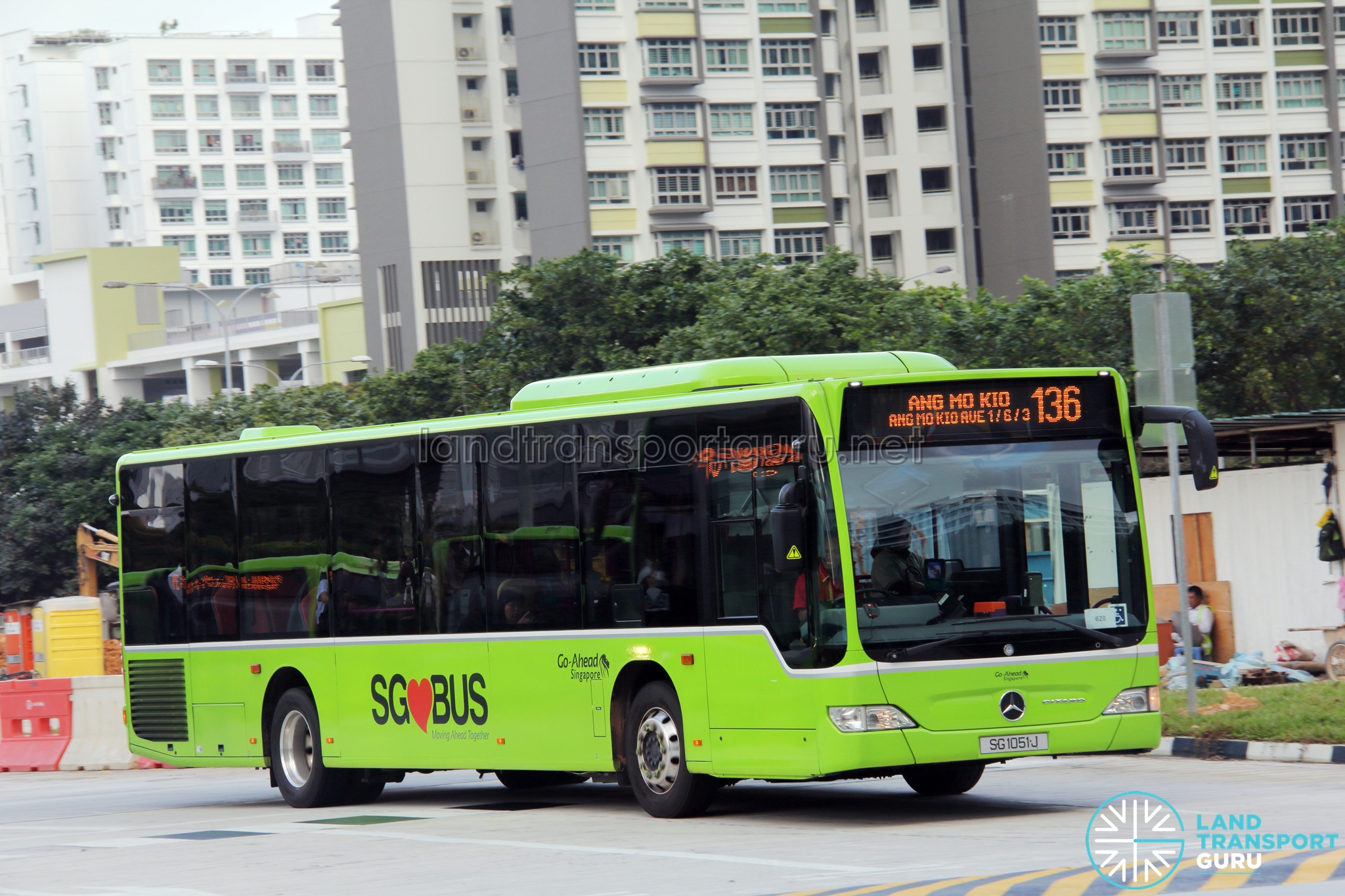 Go-Ahead Bus Service 136 | Land Transport Guru
