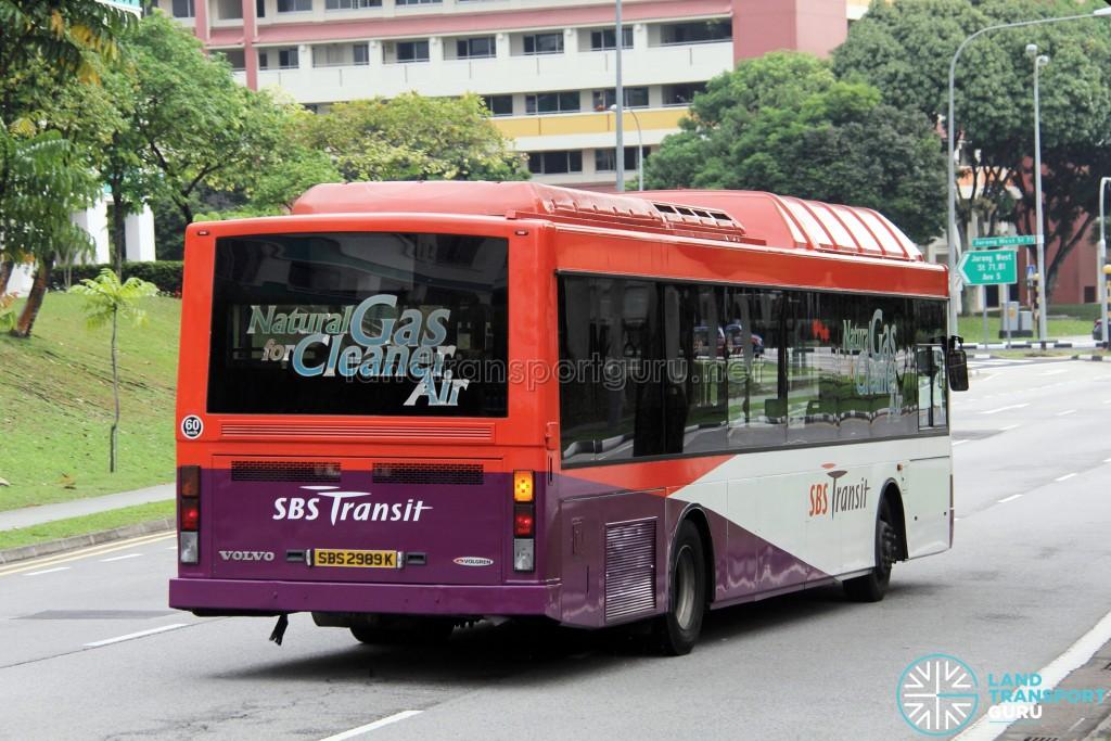 SBS Transit Volvo B10BLE CNG (SBS2989K) - Service 243G - Rear