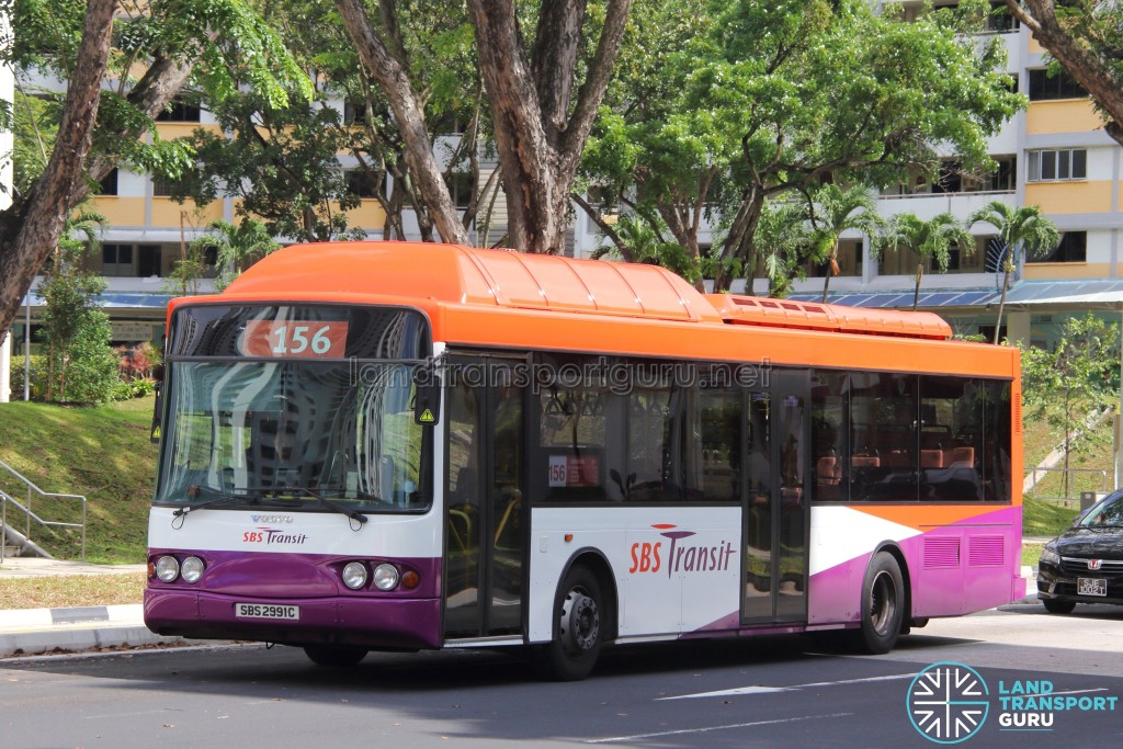 SBST Volvo B10BLE CNG (SBS2991C) - Service 156