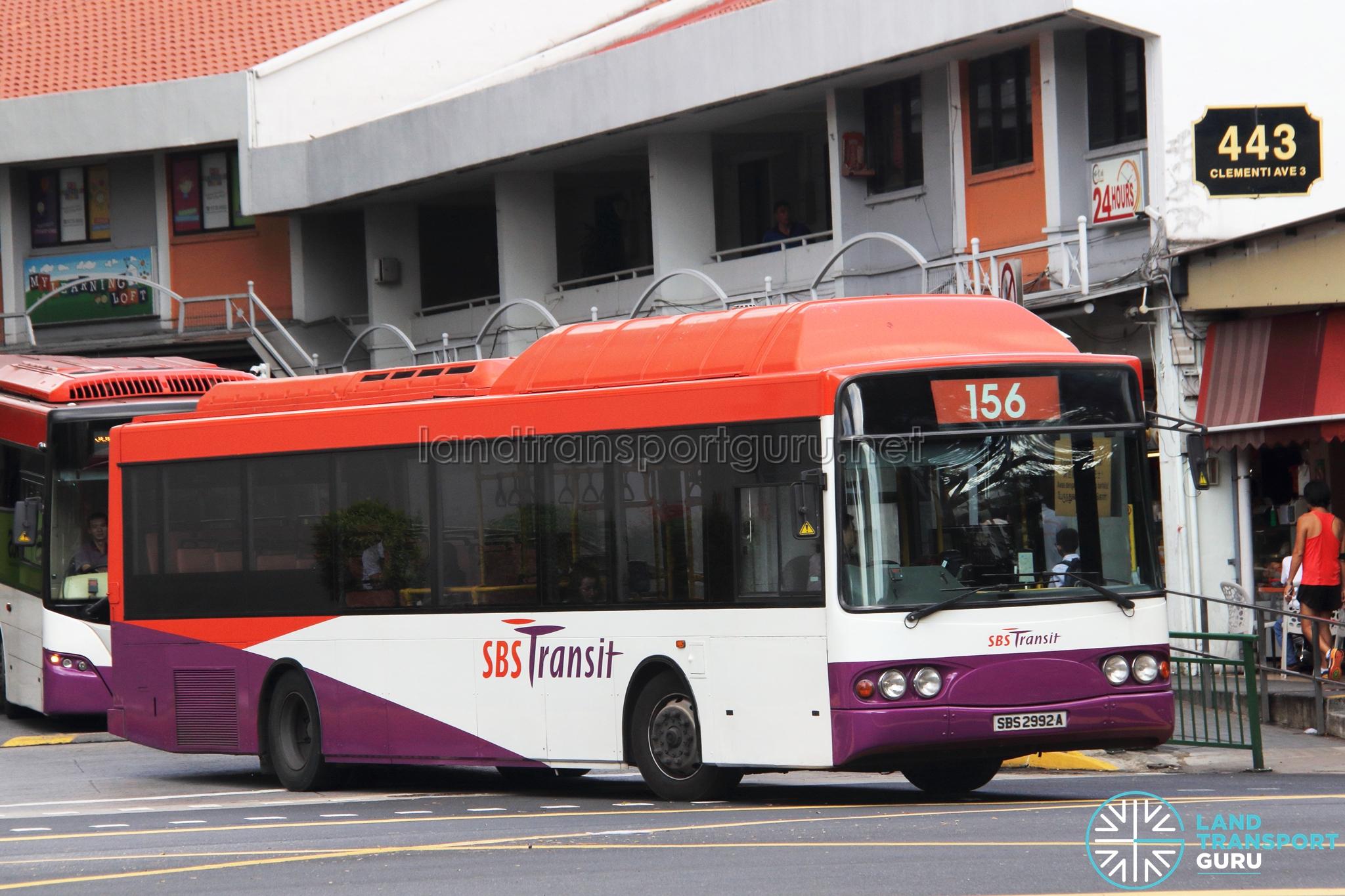 Bus 156 Route Map Singapore SBS Transit Bus Service 156 Land ...  Bus Route Map on