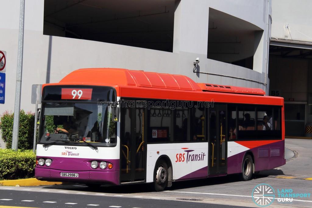 SBST Volvo B10BLE CNG (SBS2998J) - Service 99