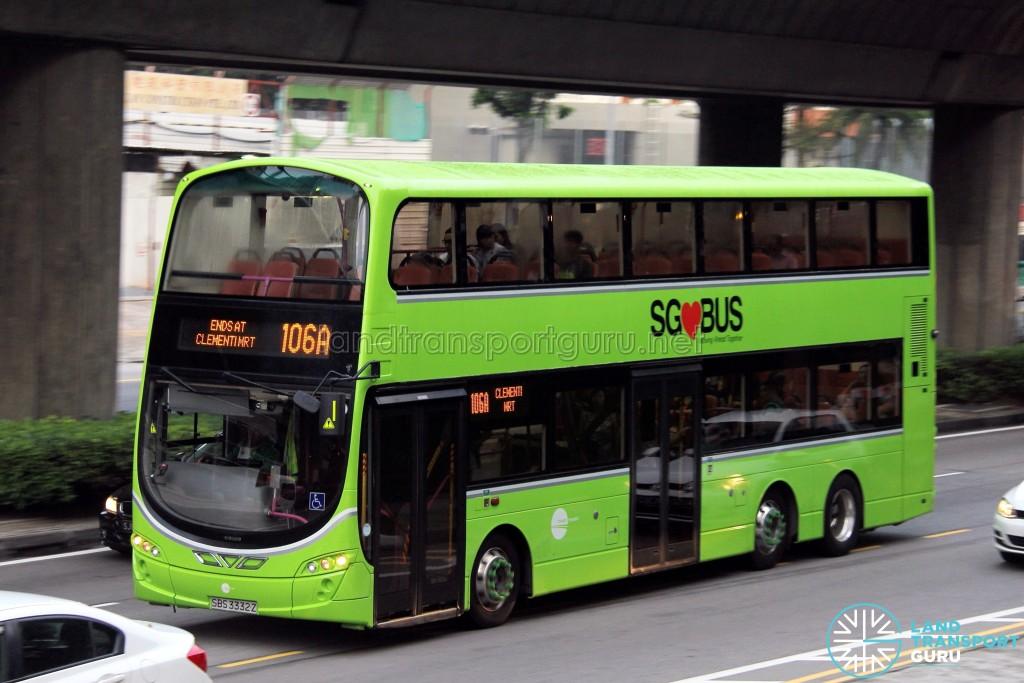 Tower Transit Volvo B9TL Wright (SBS3332Z) - Service 106A