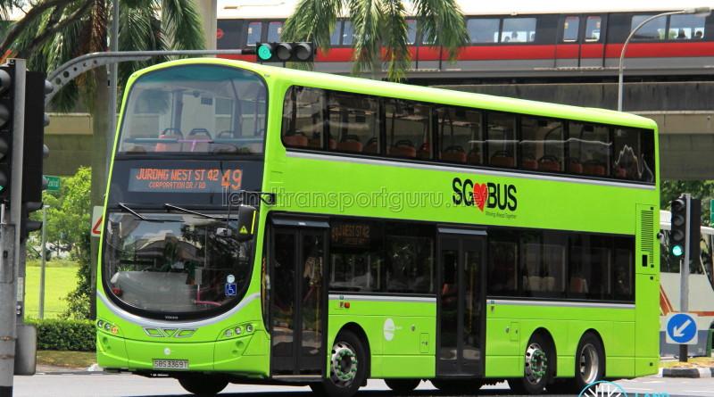 Tower Transit Volvo B9TL Wright (SBS3369T) - Service 49