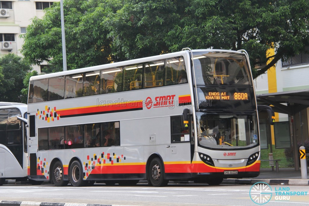 SMRT Alexander Dennis Enviro500 (SMB3607R) - Service 860A