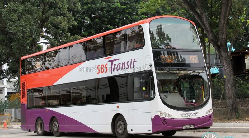 SBST Volvo B9TL Wright (SBS3834S) - Service 193