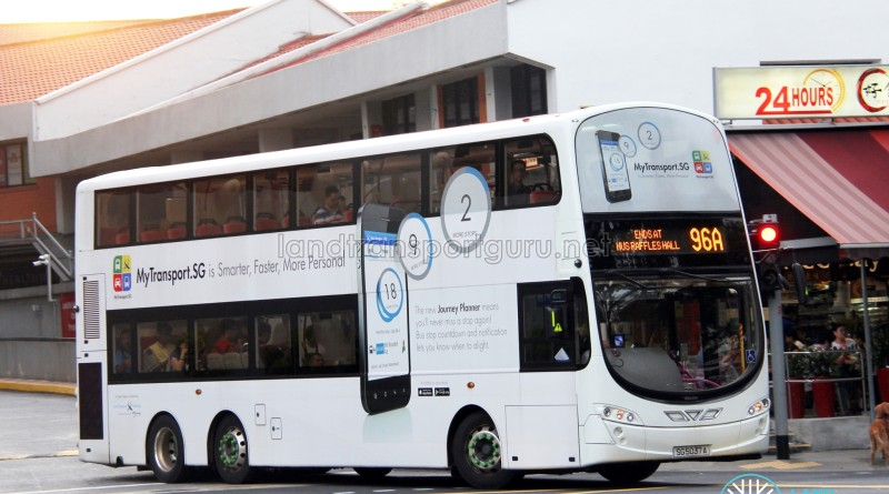 Tower Transit Volvo B9TL Wright (SG5037A) - Service 96A