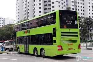SMRT MAN A95 (SG5799J) - Service 965 - Rear