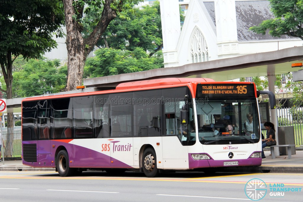 SBS Transit Mercedes-Benz Citaro (SBS6244A) - Service 195