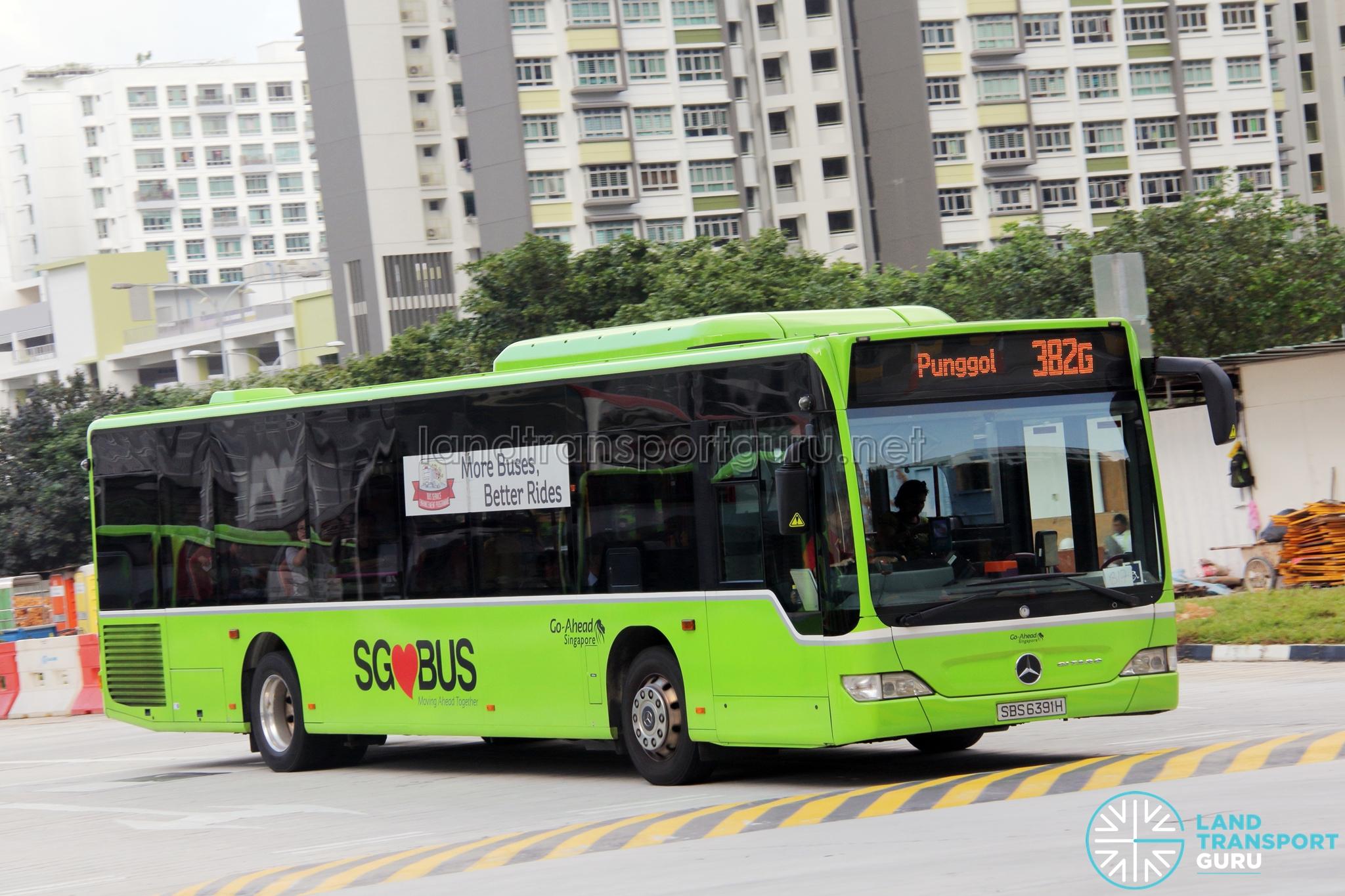 Go-Ahead Mercedes-Benz Citaro (SBS6391H) - Service 382G