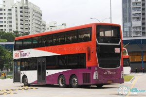 SBS Transit Scania K310UD (SBS7888K) - Parked at Compassvale Bus Interchange - Rear