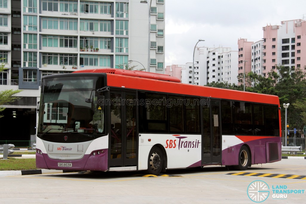 SBS Transit Scania K230UB (SBS8103K) - Permanent Training Bus with L-plate holder