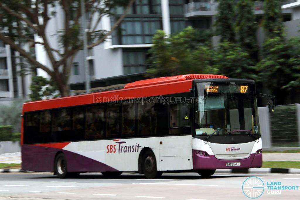 SBS Transit Scania K230UB (SBS8346B) - Service 87