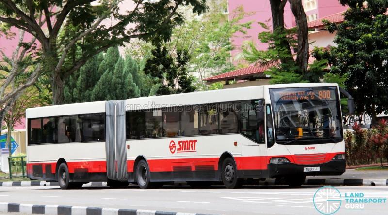 SMRT Mercedes-Benz O405G MkII (TIB995L) - Service 800