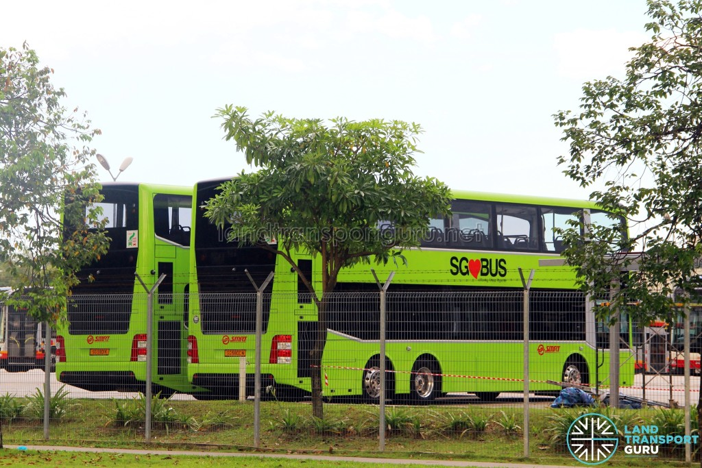 Facelifted MAN A95s (rear) at Woodlands Bus Park