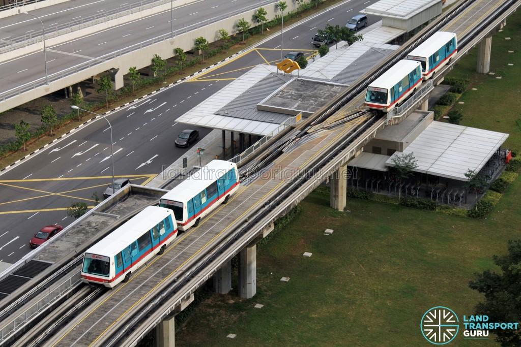 Bukit Panjang LRT - First and Second generation train cars