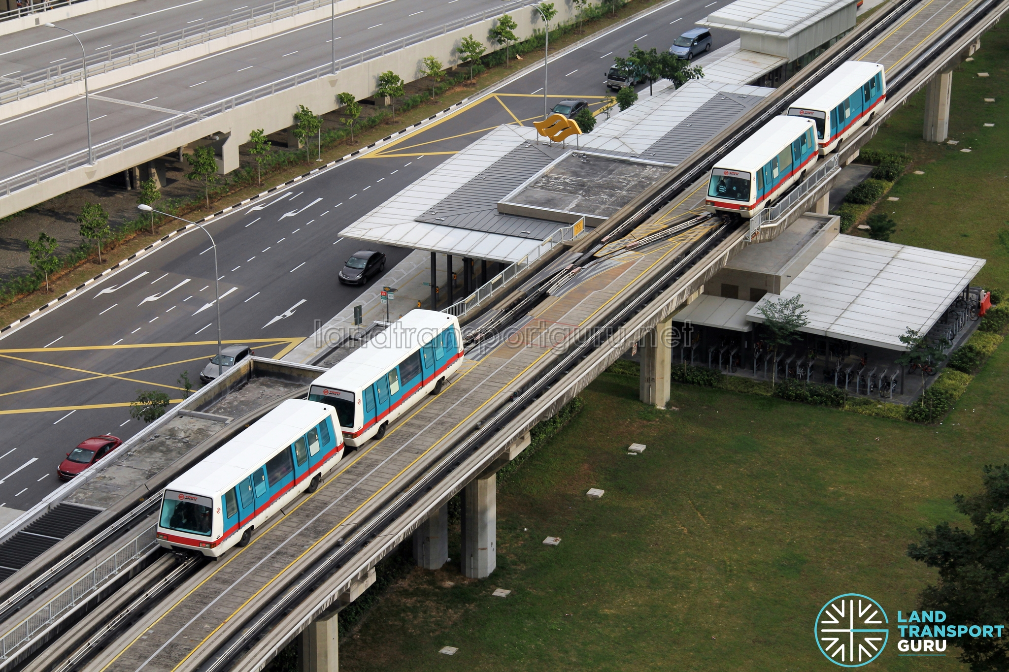 SMRT C801 Trains in Double-car formation