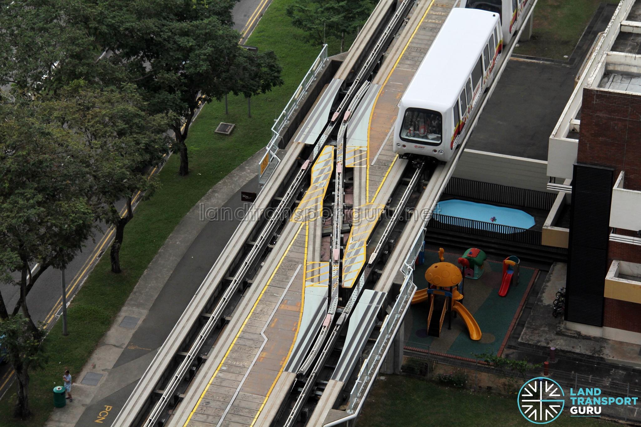 Bukit Panjang LRT: Crossover section