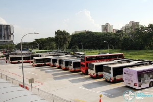 Bukit Panjang Temporary Bus Park - Parking lots