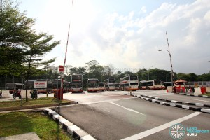 Bukit Panjang Temporary Bus Park - Ingress and egress