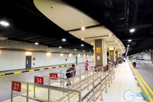 Changi Airport Terminal 1 Basement - Queue Lines for Service 24/27/34