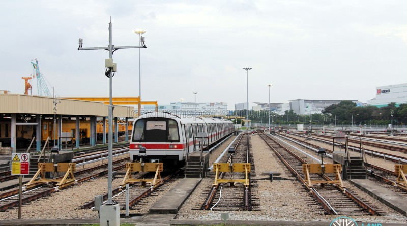 Changi Train Depot - Open-air stabling area