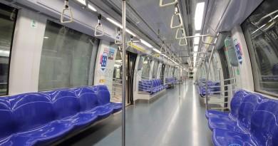 Alstom Metropolis C830 - Blue car interior