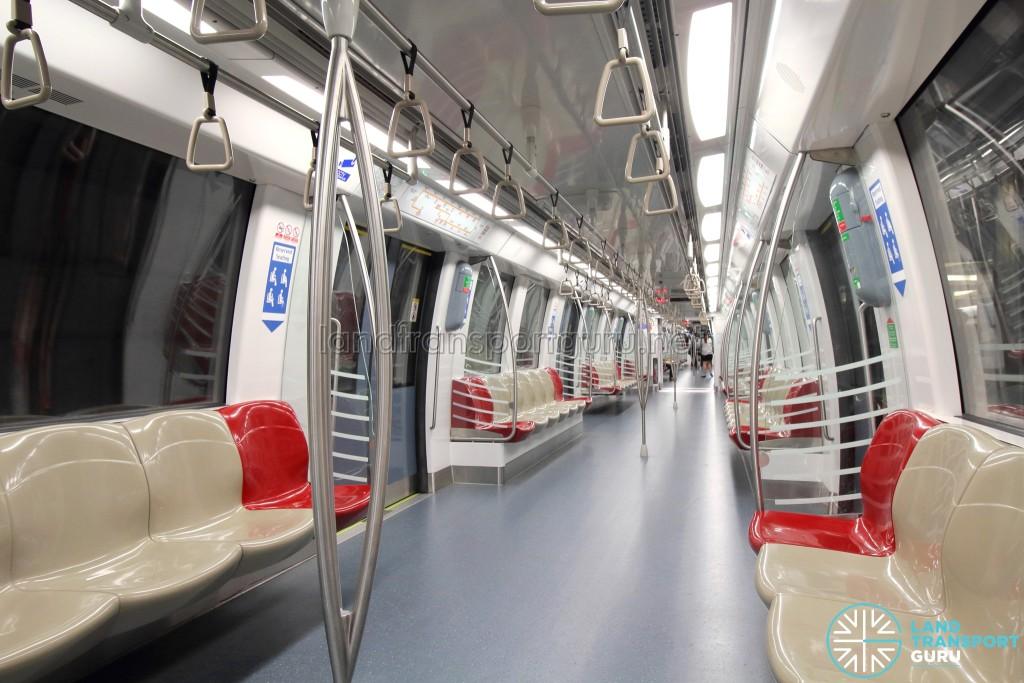 Alstom Metropolis C830C - Khaki car interior