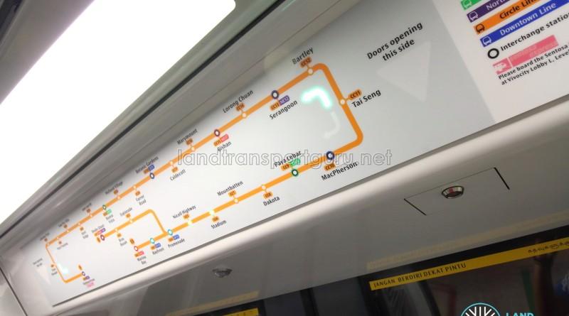 Alstom Metropolis C830C - Active Route Map