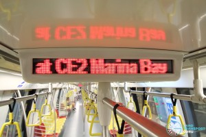 Alstom Metropolis C830C - LED text display
