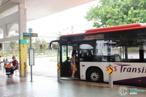Defunct Hougang South Bus Interchange - Bus boarding