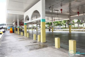 Defunct Hougang South Bus Interchange - Former end-on berths