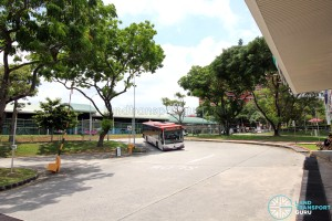 Defunct Hougang South Bus Interchange - Bus ingress