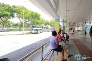 Defunct Hougang South Bus Interchange - Bus waiting area
