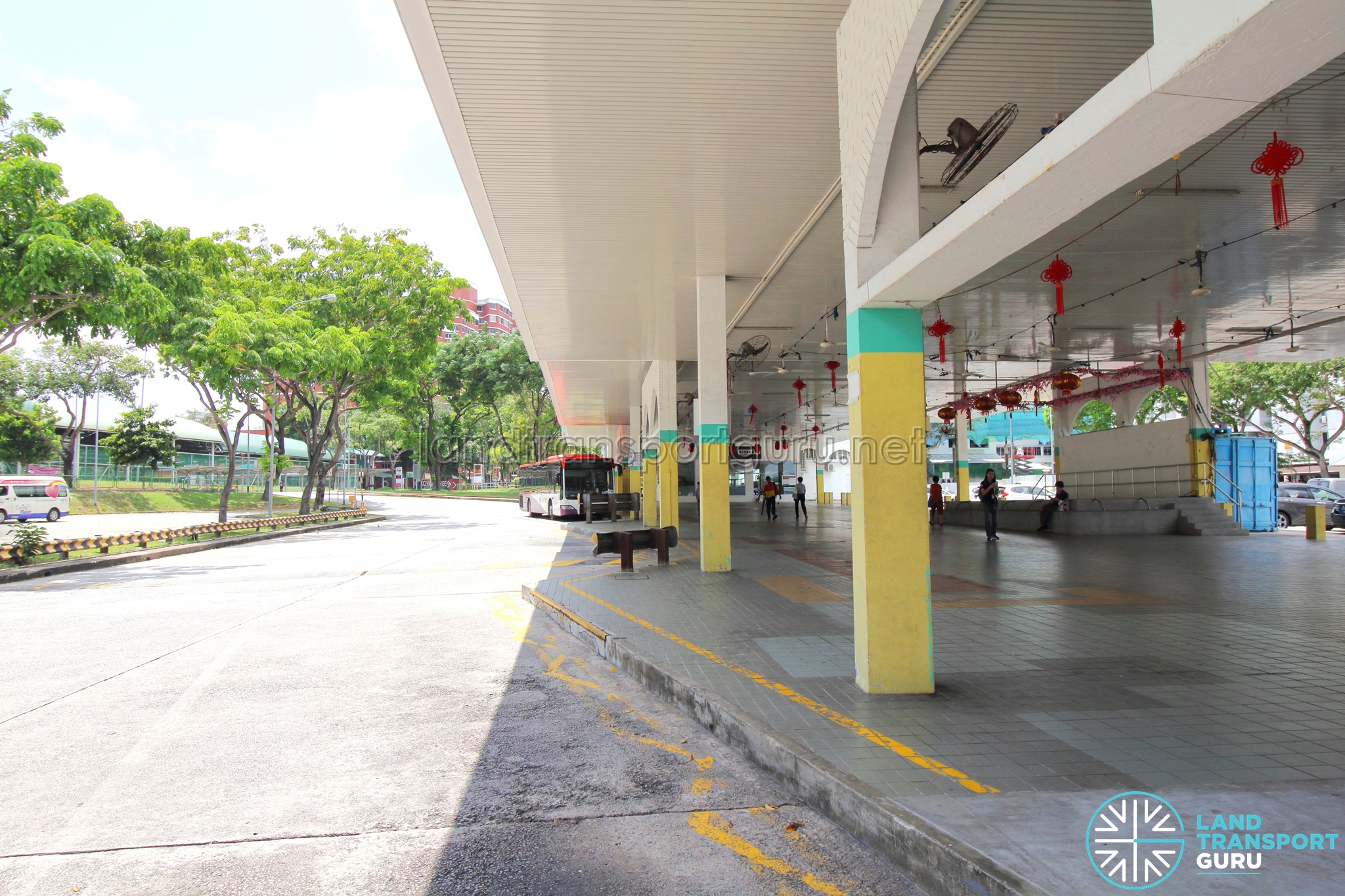 Defunct Hougang South Bus Interchange - End-on berths