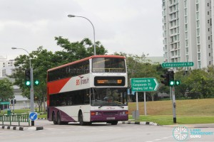 SBS Transit Dennis Trident (SBS9674Y) - Service 87, within the Sengkang Estate