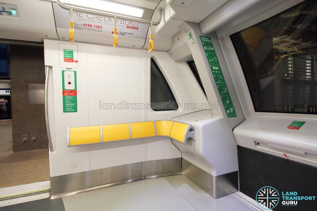 Bombardier MOVIA C951 - Car end (Perch seats)
