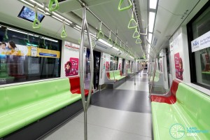 Bombardier MOVIA C951 - Green car interior