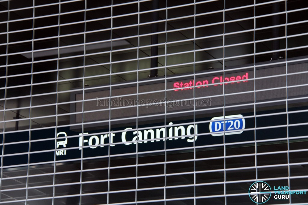 DT20 Fort Canning sign