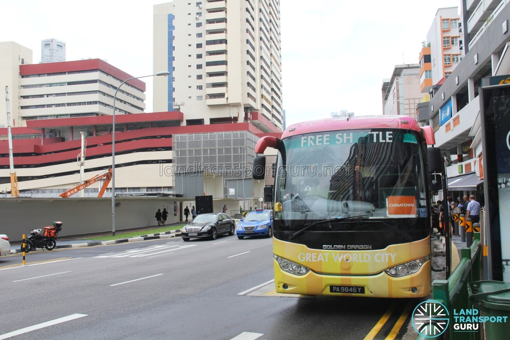 Great World City Shuttle - Chinatown Pickup Point