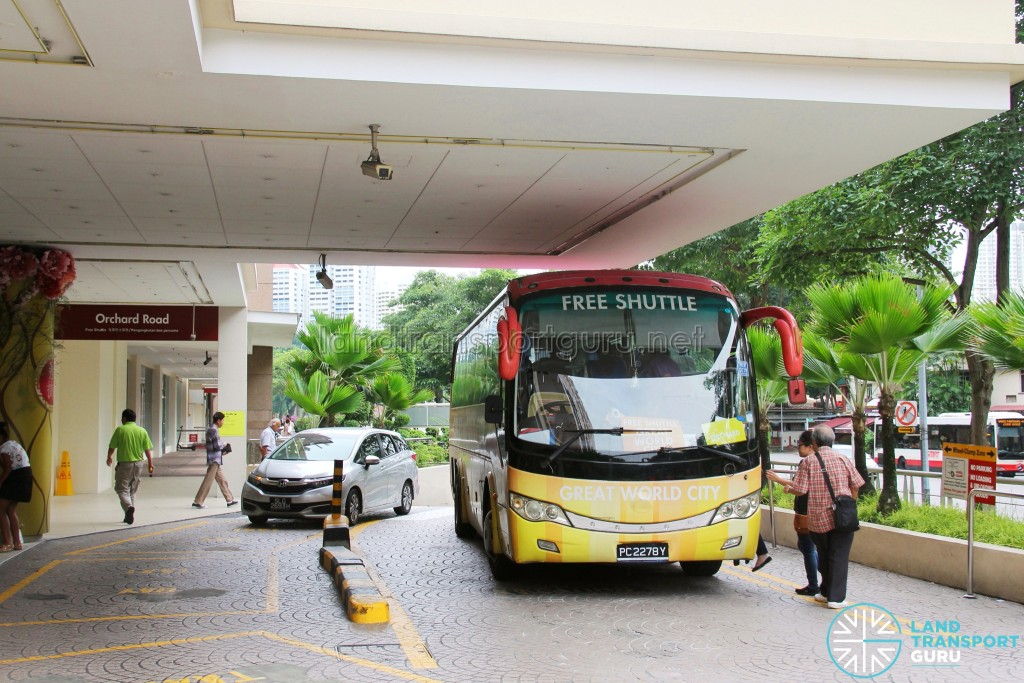Great World City Shuttle - West Pickup Point
