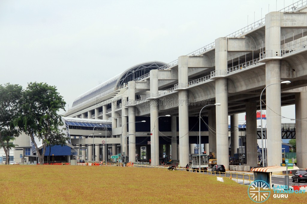 Gul Circle MRT Station - Exterior from far