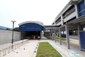 Gul Circle MRT Station - Exit A and Bicycle parking