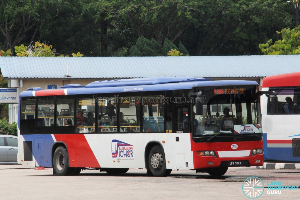 Maju Higer KLQ6128G (JPX3607) - Route P303